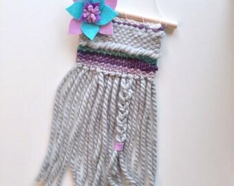 READY TO SHIP Mini Woven wall hanging - wall hanging - woven hanging - nursery decor - nursery hanging - fiber art