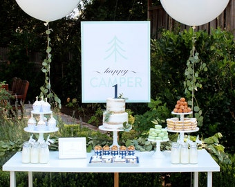 HAPPY CAMPER Dessert Backdrop- by Bloom