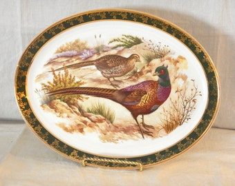 Weatherby Hanley England Royal Falcon Ware Pheasant Platter Oval