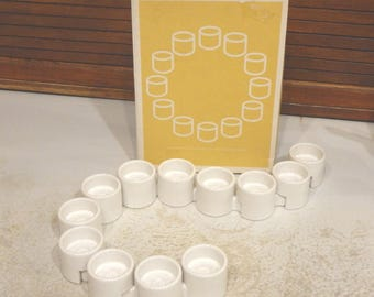 12 IKEA Interlocking Ceramic Votive Candle Tealight Holders Varmeljushallare Design Ehlen Johansson -A