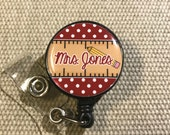 Personalized Badge Reel for Teachers - Your Choice of Style and Colors
