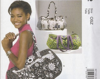 Expanding Tote Bag Pattern McCalls 7102 Uncut