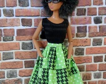 Plaid Skirt for Barbie or similar fashion doll