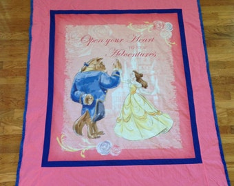 Personalized Adult Belle Disney Princess Couch Blanket