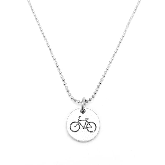 Love to Cycle Bicycle Necklace - Cycling Jewelry - Bike Charm - Spinning Jewelry - Fitness Jewelry - Cycling Charm - Fitness Motivation