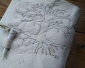 Custom Order for Melisa - White Deerskin Leather, Pencil Case w/ Tree of Life