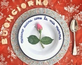 "Mother's day enamel dish - from ""a pranzo dalla nonna"" collection"