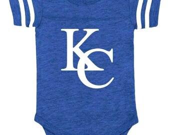 Kc royals baby etsy new in royals colors kansas city kc baseball baby bodysuit vintage negle Choice Image