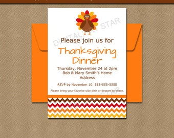 INSTANT DOWNLOAD Thanksgiving Invitation Template - Printable Thanksgiving Baby Shower Invite - EDITABLE Thanksgiving Baby Announcement T3