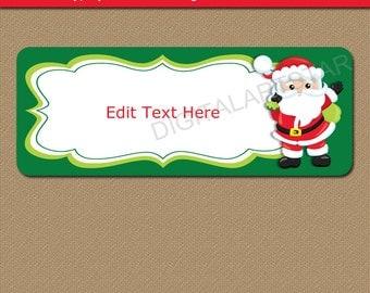 Santa Labels, Christmas Address Labels, Printable Santa Gift Labels, Santa Address Labels, Christmas Return Address Label, Santa Stickers C5