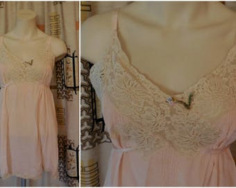 Vintage 1920s 30s Lingerie 30s Teddy Slip Step In Silk Negligee Flapper Deco Teddy Silk Lace Tie Waist S chest 38