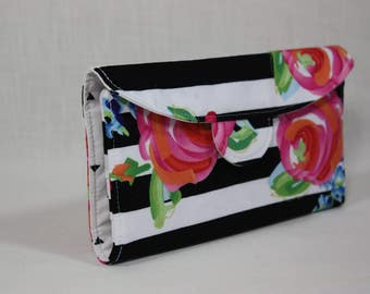Black, White and Watercolor Signature Wallet