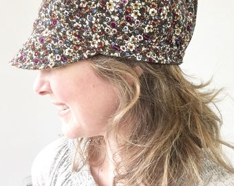 Women's Newsboy Hat - The Curvy Sister Newsboy Hat - Winter Hat for Women - Reversible Fabric Newsboy Hat - Corduroy Hat for Women