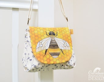Bee Handbag, Cross Body Bag, Small Messenger Bag, Shoulder Bag
