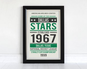 Dallas Stars - Screen Printed Poster