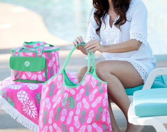 Monogrammed Beach Bag, Beach Bag, Bridesmaid Gifts, Bridal Party Gifts, Group Discounts, Monogram Beach Tote