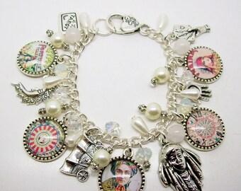 Fortune Teller Charm Bracelet, Gypsy Fortune Teller, Mystic, Palmistry, clairvoyant, Unique Gift