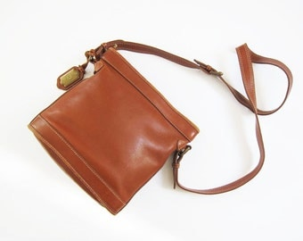 Leather Bucket Purse / Brown Leather Crossbody Bag / Leather Side Bag / Messenger