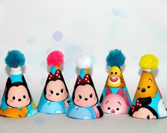 Tsum Tsum Party Hat // tsum tsum minnie // Mini Party Hat // Ready to Ship // by Born TuTu Rock