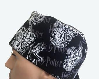 Unisex Scrub Cap - Harry Potter scrub cap - Wizard Movie Gryffindor scrub - Character scrub hat - Surgeon's Hats -  Scrub Hat - Nurse's Gift