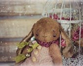 Dido :) OOAK Vintage Style Sweet Artist Bunny by Natali Sekreta -  Antique style  - stuffed - home decor - gift - Birthday