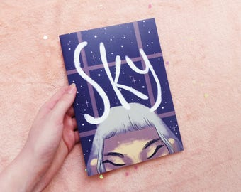 Sky, Original Comic, Space, Girl, Fiction, Fantasy, Story, Graphic Novel, Break Up, Gay, LGBT, Cat