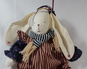 Patriotic Bunny Rabbit Doll