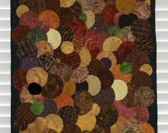 Circles - Fiber Art/Art Quilt, Abstract