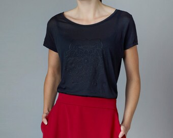 "Shirt ""Mirabilis"", black"