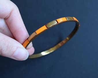 Orange Gold Bangle Bracelet Vintage