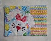 Easter Bunny Applique Mug Rug