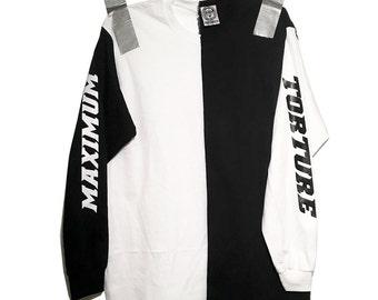 Maximum Torture Black & White Harlequin Crewneck - Small, Medium, Large, X-Large, XX-Large