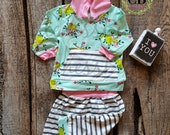 Baby Girl outfit, Floral baby outfit, pant and top set, baby girl set, trendy clothes, newborn outfit, take home outfit, hoodie and sweats