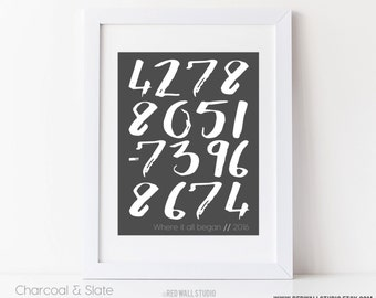 Valentines Day Gift for Him, Personalized Anniversary Gift for Men, Latitude Longitude Art Print Custom Coordinates, 8x10 or 11x14, UNFRAMED