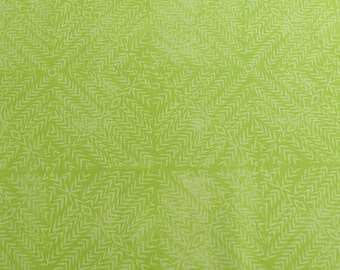 Lime green cotton fabric, Jasmine by Valoli Wells, bright green fabric