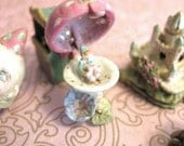 Ready to Send-  Mechanical Toy Fairy Pixie Mushroom Toadstool House - Jill Dianne Dollhouse Miniature