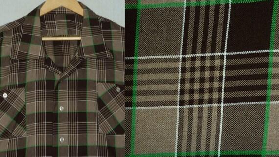1960s Shirt / XXXL / 3XL / 3X / Flannel / Wool / Plaid / Rockabilly / Work Shirt / Hunting / Vintage 1960s Mens Clothing / 60s Mens Shirt