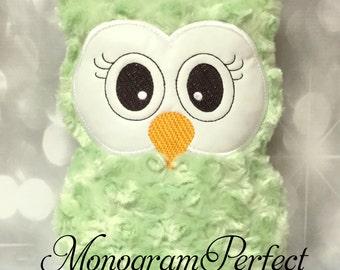 Light Lime Fluffy Plush Owl Reading Buddy Pillow, Soft Toy