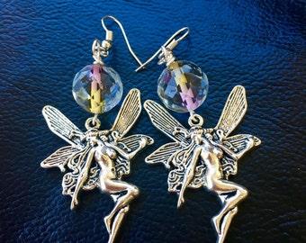 Silver Fairy Earrings
