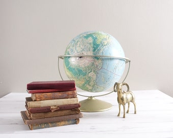 Vintage Rand McNally World Portrait Globe