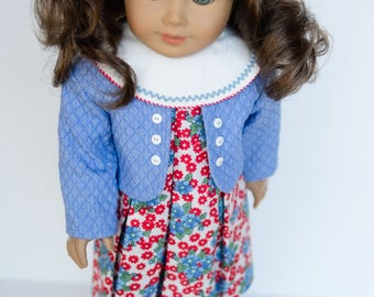 Vintage Spring Dress, Jacket and Hat 18 Inch Doll