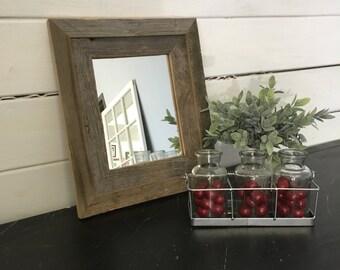 Wood Mirror, Old Wood Mirror, Distressed Mirror, Distressed Furniture, Reclaimed, Repurposed, Rustic Furniture, Beach Decor, Mountain Decor