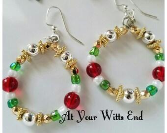 Christmas Earrings, earrings