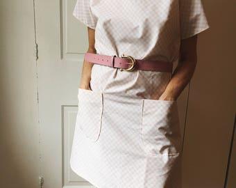 Pink Checkered A-Shaped Dress  Size Small