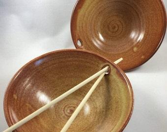 Noodle Bowls, Pottery Bowls, Rice Bowls, Ceramic Bowls, Sushi Bowls, Set of 2 Bowls, Pottery Bowl Gift