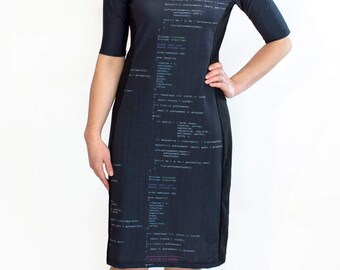 Code Poetry Dress // Software Engineer Clothing // Computer Geek Wear // Wearable Tech Dress