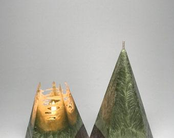 Vegan Wax Pyramid Candle