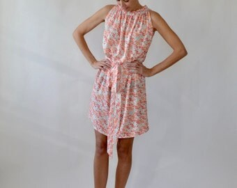 Floral dress / sundress / ruffle neck dress / summer dress / cotton dress