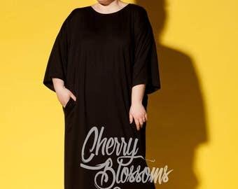 Black Maxi dress/ Black plus size dress/ Black Caftan/ Kaftan maxi dress/ Caftan Plus size/ Plus size kaftan/ Plus size Maxi dress/
