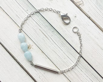 Aquamarine Tube Bracelets | Aquamarine Jewelry | Aquamarine Bracelets | Tube Bracelet | Geometric Bracelet | Aquamarine | Crystal Bracelet